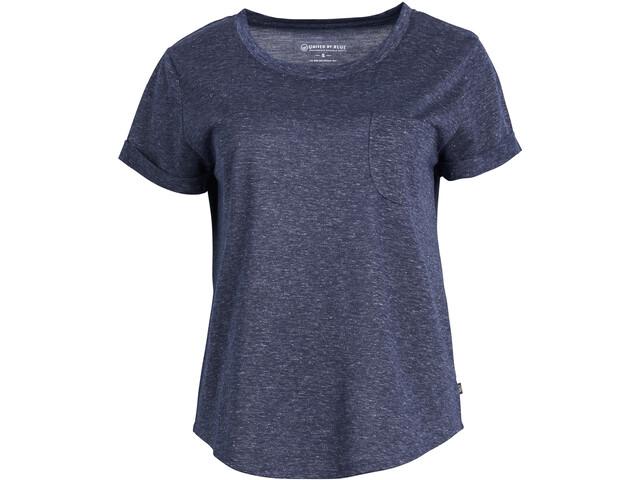 United By Blue Standard Lyhythihainen Standard Taskullinen T-paita Naiset, blue